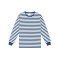 Long Sleeve Bar Stripe Tee Blue เสื้อยืดแขนยาวลายทางขาวน้ำเงิน ลายใหญ่กว่าเดิม เพิ่มรอบคอและดีเทลจั๊มพ์แขนที่สีเดียวกับลาย ทรงสวย ผ่าข้างเล็กๆ เพิ่มความดูดีมีราคา #IDHNStripeTee มีไซส์ตั้งแต่ XS - XL ใส่กันได้ทั้งชายและหญิง