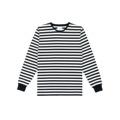 Long Sleeve Bar Stripe Tee Black เสื้อยืดแขนยาวลายทางขาวดำ ลายใหญ่กว่าเดิม เพิ่มรอบคอและดีเทลจั๊มพ์แขนที่สีเดียวกับลาย ทรงสวย ผ่าข้างเล็กๆ เพิ่มความดูดีมีราคา #IDHNStripeTee มีไซส์ตั้งแต่ XS - XL ใส่กันได้ทั้งชายและหญิง