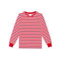 Long Sleeve Bar Stripe Tee Red เสื้อยืดแขนยาวลายทางขาวแดง ลายใหญ่กว่าเดิม เพิ่มรอบคอและดีเทลจั๊มพ์แขนที่สีเดียวกับลาย ทรงสวย ผ่าข้างเล็กๆ เพิ่มความดูดีมีราคา #IDHNStripeTee มีไซส์ตั้งแต่ XS - XL ใส่กันได้ทั้งชายและหญิง