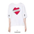 """เสื้อยืด THANKGODD Color : white Size : freesize , oversize อก 44"""" / ยาว 26""""  #เสื้อยืดคอกลม #เสื้อยืด #เสื้อยืดแขนสั้น #เสื้อยืดสีขาว"""