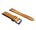 สายนาฬิกาหนังอิตาลี่แท้ สีน้ำตาล กว้าง 20mm  Free Shipping in Thailand