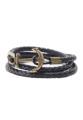 ชื่อสินค้า : Anchor Leather Bracelet - Black Detailing small fashion  wrist is important as well. Whether male or female, it was put to the Assembly 72  Anchor Bracelet  style design in navy. Add cool with Anchor Along with the cord leather vintage. Add features simple to you every day.  + 100% leather + Size : 19 cm.  #เครื่องประดับ #เครื่องประดับผู้ชาย #กำไล #กำไลข้อมือ #กำไลหนัง