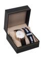 ชื่อสินค้า : Set Watch Black leather with NATO Navy-White มีทั้งสายหนัง และสายนาโต้ + ขนาด : หน้าปัด 40 มิล  + หน้าปัด : สีโรสโกลด์  + สาย : หนัง และผ้าไนลอน ขนาด 20 มิล + กันน้ำ: 3 ATM หรือ 30 เมตร + รับประกันตัวเรือน 1 ปี