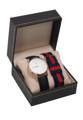 ชื่อสินค้า : Set Watch Black leather with NATO Navy-Red มีทั้งสายหนัง และสายนาโต้ + ขนาด : หน้าปัด 40 มิล  + หน้าปัด : สีโรสโกลด์  + สาย : หนัง และผ้าไนลอน ขนาด 20 มิล + กันน้ำ: 3 ATM หรือ 30 เมตร + รับประกันตัวเรือน 1 ปี
