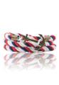 ชื่อสินค้า : Anchor Leather Bracelet - Navy/White/Red Detailing small fashion  wrist is important as well. Whether male or female, it was put to the Assembly 72  Anchor Bracelet  style design in navy. Add cool with Anchor Along with the cord leather vintage. Add features simple to you every day.  + Cotton Rope + Size : 19 cm.  #เครื่องประดับ #เครื่องประดับผู้ชาย #กำไล #กำไลข้อมือ