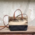 Two-Tone mini handBag (s)  Dimension: Width x Height x Base (cm.) 28 x 17 x 8   #canvasbags #madetoorderbags #bag #bags #twotonebag#twotonebag #กระเป๋า #minimal #tophandlebag #handbag #leather #style #streetstyle #กระเป๋า #กระเป๋าถือ #กระเป๋าผ้า