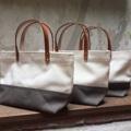 Two-Tone mini handBag (s)  Dimension: Width x Height x Base (cm.) 28 x 17 x 8   #canvasbags #madetoorderbags #bag #bags #twotonebag#twotonebag #กระเป๋า #minimal #handbag #tophandlebag #style #กระเป๋าผ้า #กระเป๋าสะพาย