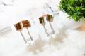 ต่างหูสไตล์มินิมอล ประดับมุก Product No : S5301 Color : gold/silver Price : 290-.