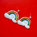 น่ารักมากบอกเลยสดใสสุดๆ ต่างหูRainbow รุ่นนี้มีมาไม่เยอะนะจ้ะยากได้รีบสอยเลย 🌈🌈🌈☁️ Product No : S7001 Price : 150-. #accessories #earrings