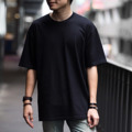 """Oversized T-Shirt - VELIKA (Crystal Black) เสื้อยืดสีพื้นทรง Oversized """" ผ้าหนานุ่ม ใส่สบาย """" . เสื้อยืดทรง OVERSIZED ที่ได้รับความนิยมเป็นอย่างมากในปัจจุบัน เราใช้ผ้า Cotton 100% เส้นด้ายเบอร์ 20 และ นำไปผ่านกระบวนการผลิตแบบ CottonSemi จึงทำให้เสื้อมีสัมผัสที่นุ่ม ใส่สบาย ไม่คัน และ สีไม่ตก คอเสื้อด้านหลังติด RIBBIN TAG สีดำ พิมพ์ลาย VELIKA ที่แปลว่า ยิ่งใหญ่ ในภาษา Czech ซึ่งเป็นเอกลักษณ์ของแบรนด์เรา . SIZE - S รอบอก 41"""" ยาว 25 """" - M รอบอก 44"""" ยาว 28 """" - L รอบอก 47"""" ยาว 30 """" . Color - Light Salmon (ชมพู) - Vanilla Twilight (ครีม) - Ghost White (ขาว) - Crystal Black (ดำ) - Midnight Blue (กรม) . Price : 350 THB . การจัดส่ง - แบบ Register (แบบลงทะเบียน) 30 บาท ใช้เวลาการส่ง 3-5 วัน - แบบ EMS (แบบด่วนพิเศษ) 60 บาท ใช้เวลาการส่ง 1-2 วัน  #เสื้อยืด #เสื้อยืดคอกลม #เสื้อยืดคอกลมแขนสั้น"""