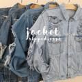"""Jacket oversize. พร้อมส่ง!! รอบอก : 40"""" ไหล่ : 8"""" ความยาวแขนเสื้อ: 27"""" ยาว : 25.5""""   #ammabshop #เสื้อคลุม #เสื้อแจ็คเก็ต #แจ็คเก็ต #แจ็คเก็ตยีนส์"""