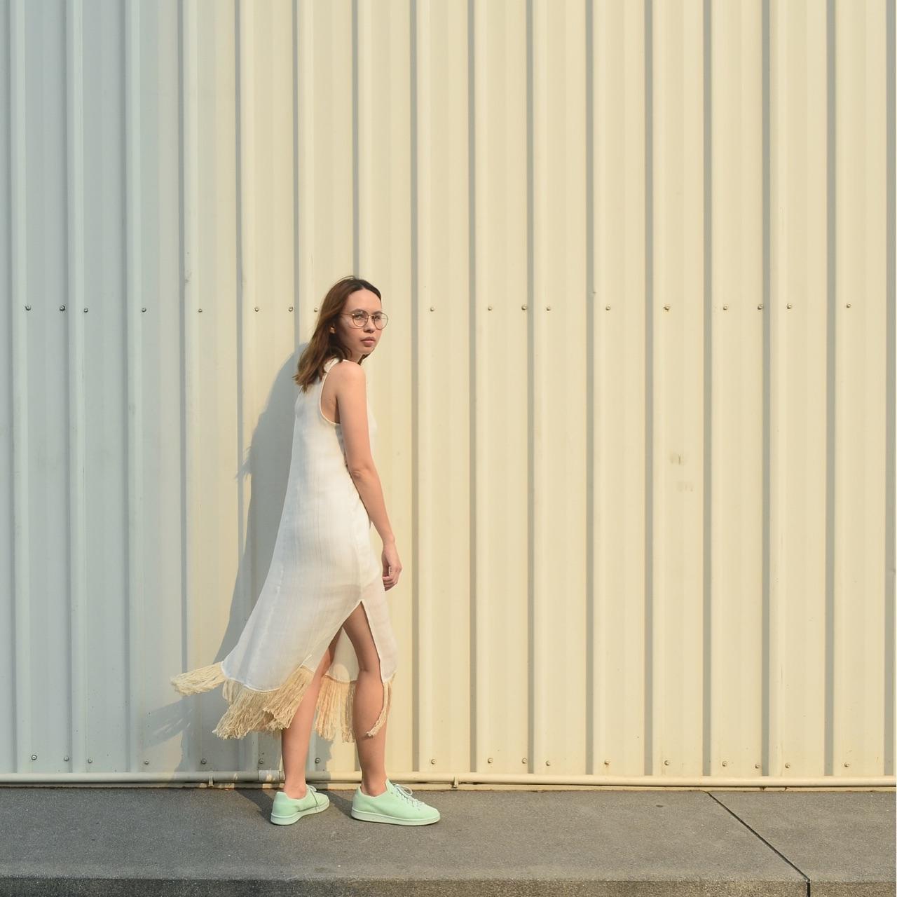 เดรส,เดรสสั้น,เดรสแขนกุด,เสื้อผ้าผู้หญิง