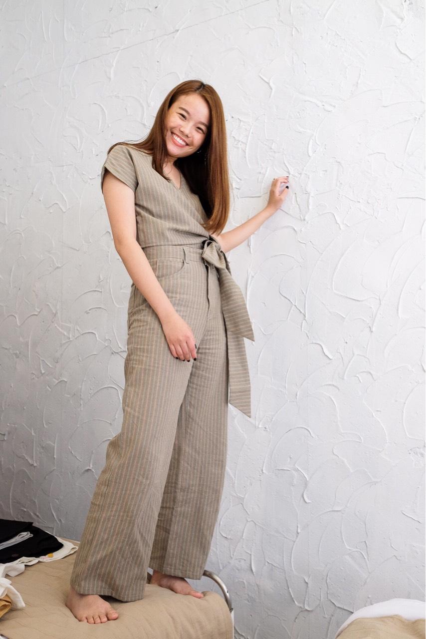Growth,กางเกง,กางเกงขายาว,กางเกงผู้หญิง,กางเกงขายาวผู้หญิง,กางเกงเอวสูง