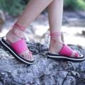 """สีชมพู ไซส์ 35-40 สูง 1.5"""" สายผูกข้อเท้าสามารถถอดออกได้ #shoes #fashion #TropicalTraveller #TropicalTraveller #TropicalTraveller"""