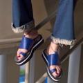 """สีน้ำเงิน  ไซส์ 35-40 สูง 1.5"""" สายผูกข้อเท้าสามารถเอาออกได้  #Shoes #fashion #TropicalTraveller #TropicalTraveller"""