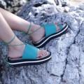 """สีเขียว  ไซส์ 35-40 สูง 1.5"""" สายผูกข้อเท้าสามารถถอดออกได้ #shoes #fashion #TropicalTraveller #TropicalTraveller #TropicalTraveller"""