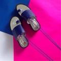 """สีน้ำเงิน ไซส์ 35-40 สูง 1.5"""" สายผูกข้อเท้าสามารถถอดออกได้  #shoes #fashion #TropicalTraveller #TropicalTraveller #TropicalTraveller #TropicalTraveller #รองเท้า #รองเท้าผู้หญิง"""