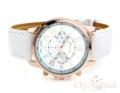 Geneva Chronograph Watch นาฬิกาข้อมือสายหนัง พร้อมหน้าปัดแบบ 3 Quartz   คุณสมบัติ - กระจกเรซิน mineral glass - วัสดุตัวเรือน / กรอบ: เรซิน PVC - สายหนัง - การบอกเวลาแบบทั่วไป - อะนาล็อก: เข็มนาฬิกา 3 เข็ม (ชั่วโมง นาที วินาที) - ความแม่นยำ: ±20 วินาทีต่อเดือน - อายุการใช้งานแบตเตอรี่ประมาณ: 3 ปีกับถ่านกระดุม SR626SW - ขนาด:เส้นผ่านศูนย์กลางหน้าปัด 3.5 cm, สายหนัง 3 x 24 cm - น้ำหนักรวม: 0.035kg
