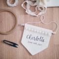 -Handmade item -Canvas fabric -Made to order   -18x20 cm  ระบุตัวอักษรที่ต้องการปักไว้ที่ ช่องข้อความเพิ่มเติมถึงร้านค้าในขั้นตอนการสั่งซื้อได้เลยนะคะ