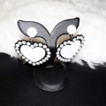 Product No : S1201 Monochrome heart peal earrings 🖤🖤 สินค้ามาใหม่ต่างหูหัวใจประดับมุกโทนสีขาวดำ Price : 320-. Size : 4.5 x 6 cm. #earrings #jewelry