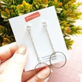 Circle Chain earrings  Price : 220 Baht Size : 2 x 6.8cm. Color : silver