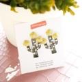 Cactus earrings  ต่างหูต้นกระบองเพชรประดับมุก Price : 220 Baht Size : 2.3 x 3.3 cm. Color : silver #earrings#jewelry#fashion