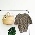"""Rainbow Sleeve Knitted Turtleneck : เสื้อ knit น่ารักที่มาพร้อมสีลูกกวาดสดใส ทรงดี คอและแขนได้สัดส่วน ตัวนี้เด่น texture ที่แอบซ่อนดิ้นเงิน ใส่ส้นสูงแมตช์กับกระเป๋า clutch ใบสวยออกงานกลางวันได้เลยเก๋ๆ ค่ะ หรืออยากคูลๆ จับใส่กับผ้าใบหรือรองเท้าแฟลต ถุงผ้าใบโปรดซักใบ น่ารักไปอีก สั่งจองได้เลยนะคะ มีของพร้อมส่งเลยค่า (Price 590฿) . Free size B32""""-38"""" L21"""" ** ช่วงอกยืดได้เยอะ ตามตัวผู้ใส่ได้เลยค่ะ : )  #เสื้อผู้หญิง #เสื้อผ้าผู้หญิง #เสื้อไหมพรม #เสื้อแขนสั้น"""