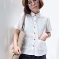 """:: mini pockets :: + Cotton  + Color : White Dot + Chest 39.5"""" + Lenght 22"""" + 590THB. **ผ้านี้นิ่มเว่อร์ๆ  #เสื้อผู้หญิง #เสื้อผ้าผู้หญิง #เสื้อเชิ้ต #เสื้อเชิ้ตผู้หญิง #เสื้อเชิ้ตแขนสั้น #เสื้อแขนสั้น"""