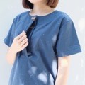 """:: Bonnie Top :: • Blue • Cotton • Chest 40.5"""" • Length 25"""" • 490THB.  #เสื้อผู้หญิง #เสื้อผ้าผู้หญิง #เสื้อแขนสั้น"""