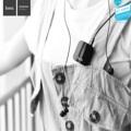 Hoco E16 Collar Bar  wireless earphone  หูฟังตัวเชื่อมไร้สาย แบบแยกชิ้น คุณภาพเสียงใส คมชัด ดีไซน์ทันสมัย น้ำหนักเบา ใช้งานต่อเนื่องสูงสุดถึง 7 ชั่วโมง และสแตนด์บายรอรับสายได้นาน 4 วัน  หูฟัง บลูทูธ Hoco E16 Collar bar เป็นหูฟังแบบแยก 2 ชิ้น สามารถใช้แบบบลูทูธหรือต่อตรง ผ่านช่อง AUX ได้ มีระบบตัดเสียงรบกวนทำให้ได้ยินเสียงคู่สายสนทนาชัดเจน ขนาดพอดี ดูเรียบหรู น้ำหนักเบา  ข้อมูลทางเทคนิค (Specification)  - Support Language: Chinese, English - Version : Support wireless V4.1 - Protocol : A2DP , AVRCP , HSP , HFP - Audio Frequency range : 20Hz ~ 20KHz - Transmission range : 10m - Battery capacity : Rechargeable polymer lithium battery 150mAh - Charging voltage : DC 5V - Talk time : 7h - Playback time : 7h - Standby time : 90h - Product weight : 17g - Cable length : 78 cm  - Size: 40 x 40 x 18mm  สามารถใช้กับมือถือ: * iPhone iPad * Samsung, Sony,Xiaomi, Huawei, etc. smartphones and tablets * Other Bluetooth-enabled devices  อุปกรณ์ภายในกล่อง -หูฟัง บลูทูธ hoco E16 - สายชาร์จ Micro USB 1 เส้น - จุกหูฟัง 3 คู่ S , M , L - คู่มือการใช้งาน