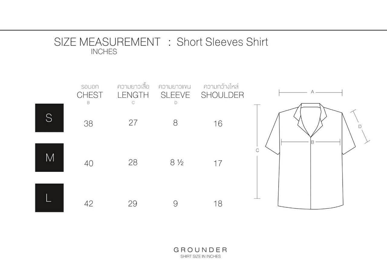 GROUNDER,เสื้อเชิ้ต,เสื้อเชิ้ตแขนสั้น,เสื้อเชิ้ตคอปก,เสื้อเชิ้ตฮาวาย