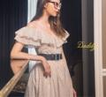 """Lillyrose dress ผ้าcotton ลายดอกไม้เล็ก เนื้อผ้าผสม gritter มีลูกเล่นความวิบวับเล็กๆ  Onesize Chest 32"""" Waist  26"""" Lenght 36"""" Price : 1490 thb  #เสื้อผ้าผู้หญิง #เดรส #เดรสยาว #เดรสปาดไหล่ #ปาดไหล่ #เดรสยาวปาดไหล่"""