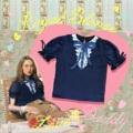 """ชื่อสินค้า : Royal blouse ผ้าชีฟองสีกรมท่า  Size Onesize อก 34"""" ยาว20.5 แขน 8"""" Price : 890 thb  #เสื้อผู้หญิง #เสื้อผ้าผู้หญิง #เสื้อแขนสั้น"""