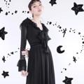 ชื่อสินค้า : Samantha dress ผ้าลูกไม้สีดำแขนยาว  Onesize อก32 เอว26 สะโพก free  ยาว44  #เสื้อผ้าผู้หญิง #เดรส #เดรสยาว #เดรสแขนยาว #เดรสยาวแขนยาว
