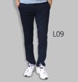 รหัสสินค้า : L09 รายละเอียดสินค้า กางเกงผ้า Chino ที่ฮิตที่สุดในขณะนี้  ราคาเดียวทุกสีทุกไซส์ 390 บาท  กางเกงชิโน่ ขายาว ทรงกระบอกเล็ก เนื้อผ้า Cotton 100% คุณภาพเยี่ยม นิ่ม ใส่สบาย รับประกันสีไม่ตก ไม่ซีด มีให้เลือกมากถึง 18 เฉดสี  เอวมีไซส์ 30, 32, 34, 36, 38  L01 สีเลือดหมู L02 สีกากี L03 สีเขียวขี้ม้า L04 สีเทา L05 สีกรมท่าอ่อน L06 สีดำ L07 สีครีม L08 สีน้ำตาลไหม้ L09 สีกรมท่าเข้ม L10 สีส้มอิฐ L11 สีน้ำตาล L12 สีเทาอ่อน L13 สีน้ำตาลโกโก้ L14 ลายพราง *หมด L15  สีเขียวทหาร L16 สีน้ำทะเล L17 สีกากีเข้ม L18 สีเทาดำ *หมด  #กางเกง #กางเกงขายาว #กางเกงผู้ชาย #กางเกงผู้ชายขายาว #กางเกงขายาวผู้ชาย