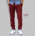 รหัสสินค้า : L01 รายละเอียดสินค้า กางเกงผ้า Chino ที่ฮิตที่สุดในขณะนี้  ราคาเดียวทุกสีทุกไซส์ 390 บาท  กางเกงชิโน่ ขายาว ทรงกระบอกเล็ก เนื้อผ้า Cotton 100% คุณภาพเยี่ยม นิ่ม ใส่สบาย รับประกันสีไม่ตก ไม่ซีด มีให้เลือกมากถึง 18 เฉดสี  เอวมีไซส์ 30, 32, 34, 36, 38  L01 สีเลือดหมู L02 สีกากี L03 สีเขียวขี้ม้า L04 สีเทา L05 สีกรมท่าอ่อน L06 สีดำ L07 สีครีม L08 สีน้ำตาลไหม้ L09 สีกรมท่าเข้ม L10 สีส้มอิฐ L11 สีน้ำตาล L12 สีเทาอ่อน L13 สีน้ำตาลโกโก้ L14 ลายพราง *หมด L15  สีเขียวทหาร L16 สีน้ำทะเล L17 สีกากีเข้ม L18 สีเทาดำ *หมด  #กางเกง #กางเกงขายาว #กางเกงผู้ชาย #กางเกงผู้ชายขายาว #กางเกงขายาวผู้ชาย