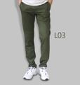 รหัสสินค้า : L03 รายละเอียดสินค้า กางเกงผ้า Chino ที่ฮิตที่สุดในขณะนี้  ราคาเดียวทุกสีทุกไซส์ 390 บาท  กางเกงชิโน่ ขายาว ทรงกระบอกเล็ก เนื้อผ้า Cotton 100% คุณภาพเยี่ยม นิ่ม ใส่สบาย รับประกันสีไม่ตก ไม่ซีด มีให้เลือกมากถึง 18 เฉดสี  เอวมีไซส์ 30, 32, 34, 36, 38  L01 สีเลือดหมู L02 สีกากี L03 สีเขียวขี้ม้า L04 สีเทา L05 สีกรมท่าอ่อน L06 สีดำ L07 สีครีม L08 สีน้ำตาลไหม้ L09 สีกรมท่าเข้ม L10 สีส้มอิฐ L11 สีน้ำตาล L12 สีเทาอ่อน L13 สีน้ำตาลโกโก้ L14 ลายพราง *หมด L15  สีเขียวทหาร L16 สีน้ำทะเล L17 สีกากีเข้ม L18 สีเทาดำ *หมด  #กางเกง #กางเกงขายาว #กางเกงผู้ชาย #กางเกงผู้ชายขายาว #กางเกงขายาวผู้ชาย