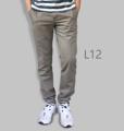 รหัสสินค้า : L12 รายละเอียดสินค้า กางเกงผ้า Chino ที่ฮิตที่สุดในขณะนี้  ราคาเดียวทุกสีทุกไซส์ 390 บาท  กางเกงชิโน่ ขายาว ทรงกระบอกเล็ก เนื้อผ้า Cotton 100% คุณภาพเยี่ยม นิ่ม ใส่สบาย รับประกันสีไม่ตก ไม่ซีด มีให้เลือกมากถึง 18 เฉดสี  เอวมีไซส์ 30, 32, 34, 36, 38  L01 สีเลือดหมู L02 สีกากี L03 สีเขียวขี้ม้า L04 สีเทา L05 สีกรมท่าอ่อน L06 สีดำ L07 สีครีม L08 สีน้ำตาลไหม้ L09 สีกรมท่าเข้ม L10 สีส้มอิฐ L11 สีน้ำตาล L12 สีเทาอ่อน L13 สีน้ำตาลโกโก้ L14 ลายพราง *หมด L15  สีเขียวทหาร L16 สีน้ำทะเล L17 สีกากีเข้ม L18 สีเทาดำ *หมด  #กางเกง #กางเกงขายาว #กางเกงผู้ชาย #กางเกงผู้ชายขายาว #กางเกงขายาวผู้ชาย