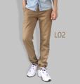 รหัสสินค้า : L02 รายละเอียดสินค้า กางเกงผ้า Chino ที่ฮิตที่สุดในขณะนี้  ราคาเดียวทุกสีทุกไซส์ 390 บาท  กางเกงชิโน่ ขายาว ทรงกระบอกเล็ก เนื้อผ้า Cotton 100% คุณภาพเยี่ยม นิ่ม ใส่สบาย รับประกันสีไม่ตก ไม่ซีด มีให้เลือกมากถึง 18 เฉดสี  เอวมีไซส์ 30, 32, 34, 36, 38  L01 สีเลือดหมู L02 สีกากี L03 สีเขียวขี้ม้า L04 สีเทา L05 สีกรมท่าอ่อน L06 สีดำ L07 สีครีม L08 สีน้ำตาลไหม้ L09 สีกรมท่าเข้ม L10 สีส้มอิฐ L11 สีน้ำตาล L12 สีเทาอ่อน L13 สีน้ำตาลโกโก้ L14 ลายพราง *หมด L15  สีเขียวทหาร L16 สีน้ำทะเล L17 สีกากีเข้ม L18 สีเทาดำ *หมด  #กางเกง #กางเกงขายาว #กางเกงผู้ชาย #กางเกงผู้ชายขายาว #กางเกงขายาวผู้ชาย