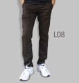 รหัสสินค้า : L08 รายละเอียดสินค้า กางเกงผ้า Chino ที่ฮิตที่สุดในขณะนี้  ราคาเดียวทุกสีทุกไซส์ 390 บาท  กางเกงชิโน่ ขายาว ทรงกระบอกเล็ก เนื้อผ้า Cotton 100% คุณภาพเยี่ยม นิ่ม ใส่สบาย รับประกันสีไม่ตก ไม่ซีด มีให้เลือกมากถึง 18 เฉดสี  เอวมีไซส์ 30, 32, 34, 36, 38  L01 สีเลือดหมู L02 สีกากี L03 สีเขียวขี้ม้า L04 สีเทา L05 สีกรมท่าอ่อน L06 สีดำ L07 สีครีม L08 สีน้ำตาลไหม้ L09 สีกรมท่าเข้ม L10 สีส้มอิฐ L11 สีน้ำตาล L12 สีเทาอ่อน L13 สีน้ำตาลโกโก้ L14 ลายพราง *หมด L15  สีเขียวทหาร L16 สีน้ำทะเล L17 สีกากีเข้ม L18 สีเทาดำ *หมด  #กางเกง #กางเกงขายาว #กางเกงผู้ชาย #กางเกงผู้ชายขายาว #กางเกงขายาวผู้ชาย