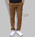 รหัสสินค้า : L11 รายละเอียดสินค้า กางเกงผ้า Chino ที่ฮิตที่สุดในขณะนี้  ราคาเดียวทุกสีทุกไซส์ 390 บาท  กางเกงชิโน่ ขายาว ทรงกระบอกเล็ก เนื้อผ้า Cotton 100% คุณภาพเยี่ยม นิ่ม ใส่สบาย รับประกันสีไม่ตก ไม่ซีด มีให้เลือกมากถึง 18 เฉดสี  เอวมีไซส์ 30, 32, 34, 36, 38  L01 สีเลือดหมู L02 สีกากี L03 สีเขียวขี้ม้า L04 สีเทา L05 สีกรมท่าอ่อน L06 สีดำ L07 สีครีม L08 สีน้ำตาลไหม้ L09 สีกรมท่าเข้ม L10 สีส้มอิฐ L11 สีน้ำตาล L12 สีเทาอ่อน L13 สีน้ำตาลโกโก้ L14 ลายพราง *หมด L15  สีเขียวทหาร L16 สีน้ำทะเล L17 สีกากีเข้ม L18 สีเทาดำ *หมด  #กางเกง #กางเกงขายาว #กางเกงผู้ชาย #กางเกงผู้ชายขายาว #กางเกงขายาวผู้ชาย