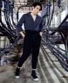 """กางเกงทรงเอวสูง ผ้าคอตตอนสีดำ พร้อมสายรัดเอว ขนาด m รอบเอว 30"""" - 36"""" ขนาด L รอบเอว 32"""" - 38""""  #กางเกง #กางเกงขายาว #กางเกงขายาวผู้ชาย"""