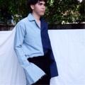 เสื้อเชิ้ตแขนใหญ่ ผ้ายีนตัดต่อสองสี  ขนาด M อก 44 ขนาด L อก 46  #เสื้อเชิ้ต #เสื้อเชิ้ตแขนยาว #เสื้อเชิ้ตผู้ชาย