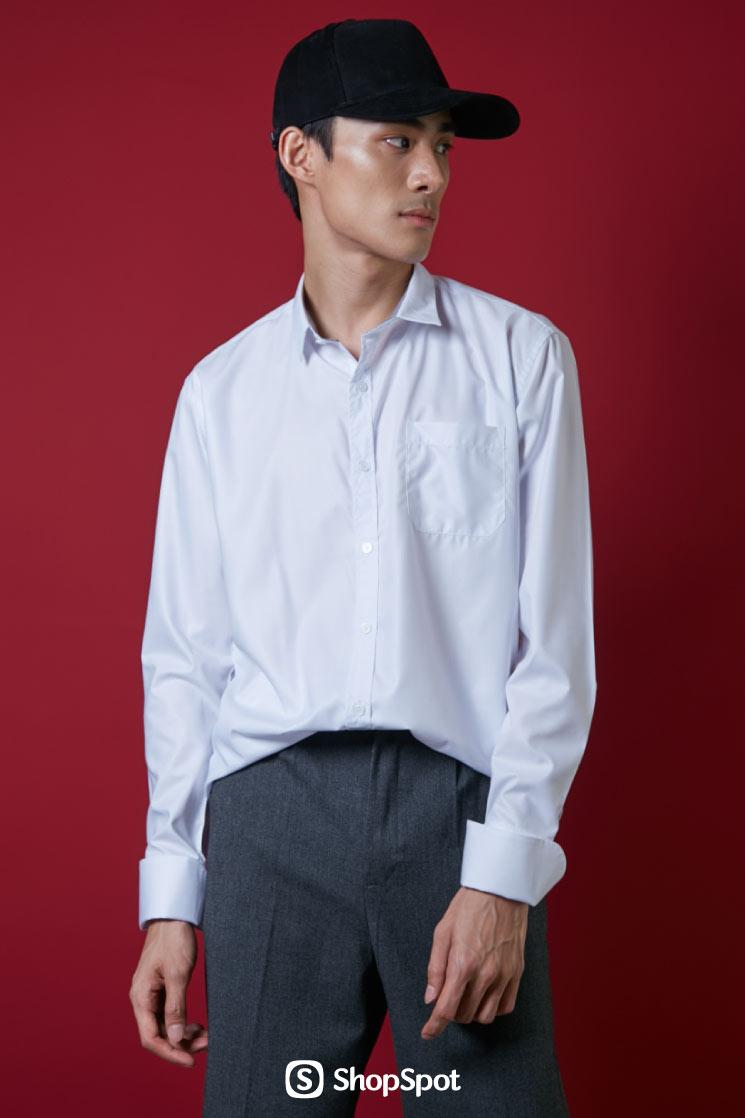เสื้อเชิ้ต,เสื้อเชิ้ตแขนยาว,เสื้อเชิ้ตผู้ชาย,เสื้อเชิ้ตสีขาว,เสื้อผู้ชาย,เสื้อผ้าผู้ชาย,เสื้อเชิ้ตคอปก,เสื้อทำงาน,ชุดทำงาน