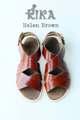 รองเท้าแตะสไตล์แกดิเอเตอร์ ทำจากหนังวัวแท้ สายรัดเป็นแบบเข็มขัดสีทองเหลือง ทนทาน ดูหรูหรา  Size 35/ 21.5 cm  Size 36 / 22.5 cm Size 37 / 23.5 cm  #รองเท้า #รองเท้าผู้หญิง