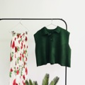 "Lalaine Cropped Top : เสื้อครอปคอปก polo ผ้าทอ knit ขึ้นลายในตัว เรียบหรูดูแพงต้องรุ่นนี้เลยค่ะ ใส่ขึ้นมาน่ารักมากๆ เข้ากับกางเกงได้หลายแบบ มี 2 สี Christmas Green / Ivory Sand รีบจองก่อนของหมดนะคะสาวๆ limited stock ค่า (Price 690฿) . Free Size B-50"" L21"" ______________________________ - Add to cart : Line ID @mermaidbackyard - Store Location : Raw You Here Food & Friends Rayong"