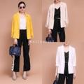 """Korea Blazer :: สูทเรียบเก๋ใส่สบายๆ ทรงสวยผ้าดีค่าาา  สี :: ขาว ครีม เหลือง ดำ  ไซต์ :: อก38"""" ยาว25""""  #เสื้อคลุม #เสื้อคลุมแขนยาว #เสื้อสูท"""