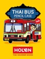 Thai Bus Pencil Bag (กระเป๋าเครื่องเขียนรถเมลล์) แดง  รายละเอียดสินค้า • ขนาด  (W)70 x (D)70 x (H)19 mm  • Material: PVC