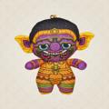 Ramakien Buddy Keychain - ITHIKAI (ตุ๊กตาพวงกุญแจรามเกียรติ์ อิทธิกาย)  รายละเอียดสินค้า • ขนาด (W)65 x (D)35 x (H)95 mm • น้ำหนัก 15 g • ผลิตจากผ้า Polyester