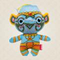 """Ramakien Birthday Doll - Friday - Maloontakesorn  (ตุ๊กตาประจำวันเกิดวันศุกร์ มาลุนทเกสร)  """"สนุกสนานกับเหล่ากองทัพวานรของพระรามที่ส่งมาเป็นเพื่อนคู่ใจและเป็นผู่ช่วยให้กับคุณ ในรูปแบบตุ๊กตาประจำวันเกิดวันศุกร์มาลุนทเกสร พร้อมทั้งยังสามารถจำแลงกายจากตุ๊กตามาเป็นพวงกุญแจได้อีกด้วย เรียกได้ว่าจะหาความวิเศษแบบนี้ที่ไหนได้นอกจาก Holen แบรนด์ที่ตั้งใจทำผลิตภัณฑ์พร้อมกับนำเรื่องราววรรณดคีรามเกียรติ์ของไทยมาใส่ลงบนตุ๊กตาประจำวันเกิดที่เป็นตัวแทนของคนเกิดวันศุกร์ และสีฟ้าที่เป็นสีประจำของมาลุนทเกสรอีกด้วย  ความพิเศษของตุ๊กตาประจำวันเกิดวันศุกร์มาลุทเกสร ยังไม่หมดเพียงเท่านี้ เพราะตุ๊กตาตัวนี้ได้ผ่านการคัดสรรวัสดุคุณภาพดี เพื่อให้คุณได้รับผลิตภัณฑ์ที่มีคุณภาพ พร้อมกับนำเสนอความเป็นไทยผ่านลวดลายตัวละครของวรรณดคีรามเกียรติ์ เรียกได้ว่าตุ๊กตาตัวนี้เป็นตัวแทนเอกลักษณ์ของไทยเลยก็ว่าได้ ไม่ว่าใครได้รับเป็นของฝากหรือของวัญต้องตื่นเต้นและถูกใจอย่างแน่นอน  • ขนาด (W)160 x (D)95 x (H)190 mm  • น้ำหนัก 120 g • สีฟ้า (ลวดลายมาลุนทเกสร) • ผลิตจากผ้า Polyester """""""